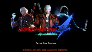 Devil May Cry 4 SE menu screen (Fan made) by midinferno