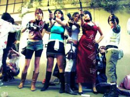 Just the girls [2]. by Shermie-Cosplay