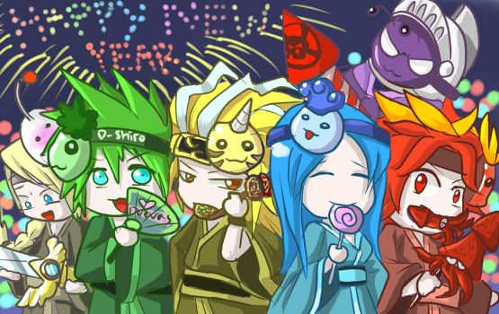 Brave Frontier - Happy New Year by shirodebby