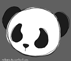 sketch panda design by Nekopie