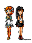 Heroines of Sega and Square-enix by ninpeachlover
