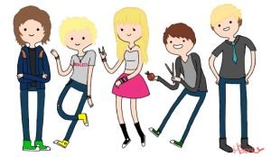 R5 in the Style of Adventure Time! by pigfartspigfarts