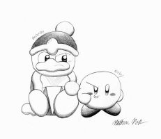Dedede and Kirby by crazy4kirby