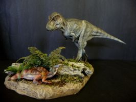 Tarbosaurus and prey 2 by Baryonyx-walkeri