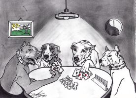 Dog Poker by AudioHomicide