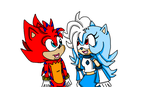 Flash and Ice Cold The Hedgehogs by RandomNeku