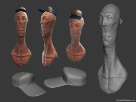 long head dude textured by MrNinjutsu