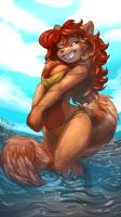 Rusty Art - Aria the Red Panda by Noben