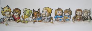 Chibi Skyrim at the Bar by anime-wolf-fan-girl