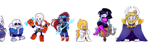 Undertale Sticker Designs by KiraNohara