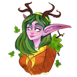 druid portrait by give-me-your-love