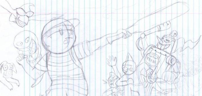 Earthbound sketchy 1 by VenomHourGlass