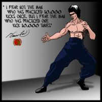 Bruce Lee 3 by deanfenechanimations