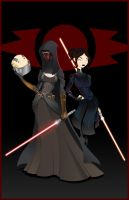 Darth Revan and Bastila by thisisanton