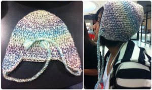 Watercolor Ear-flap Hat by YunisUnis