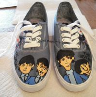 Cartoon Beatles Custom Shoes by MEEPxoxo