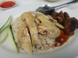 Steamed Chicken Rice VOTE FOR ME NOW by nosugarjustanger