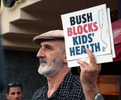 bush veto protest.palm springs by socaltimes