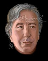 Alan Rickman by ReginesArtwork