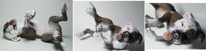 Dog Sculpt: Pitbull Mix by reviro