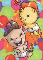 Baby Cakes sketch card (SOLD) by angelacapel