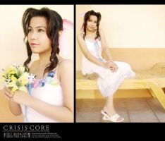 Crisis Core Aerith cosplay 2 by lonelymiracle