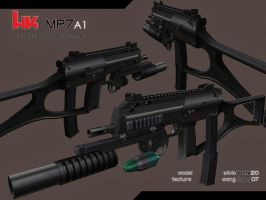 HK MP7A1 w Grenade Launcher by imWangChung