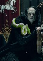 Grima Wormtongue and His Daemon by LJ-Todd