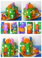Backyardigans cake by Cakerific