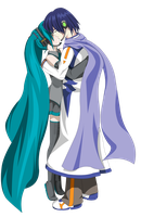 Miku and Kaito Kissing V.final by OHerman