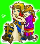 Me and Jak DERP Coloured. by singingaboutthesnow
