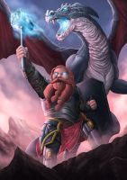 Dragon Rider by djambronx