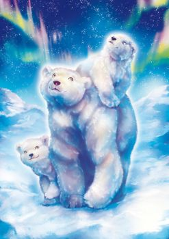 Polar Bear Family by Fany001