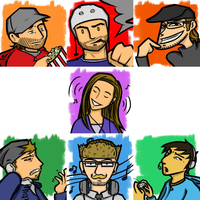 Co-worker avatar doodles by euthanasian