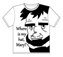 Where is my hat Mary Tshirt by Pjczar