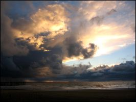 Stormy Sunset at Pismo Beach by Leitmotif