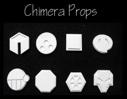 Johto Pokemon Badges WIP by ChimeraProps