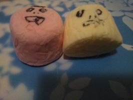 Crazy faced marshmallows by Friday-On-a-TuEsDaY
