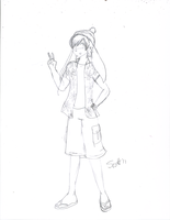 Hurley sketch: New character by JohnZScott