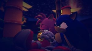 Sonic Comforting Amy by Toad900