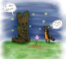 Groot and Rocket Raccoon by MakaylaTanku