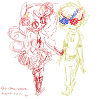 Aradia and Sollux by CloudsofCrystal