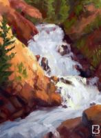 Waterfall Study by LindseyBell