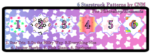 6 Starstruck Patterns by CNM by Crystal-Moore