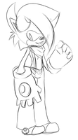 Camron the hedgehog  .:Sketch:. by McButterFingers
