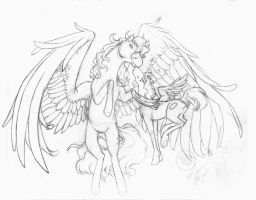 Firebyrd commish roughs by Bee-chan