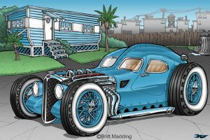 Atlantic  Blue Hot Rod by Britt8m