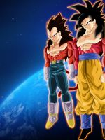 True Saiyans. :Space: by moxie2D
