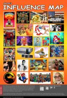 Influence Map by v-Germs-v