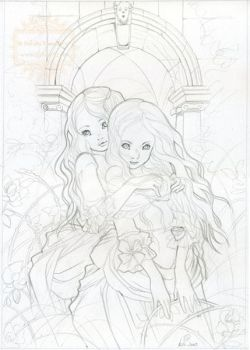 Victorian Sisters - sketch by nati